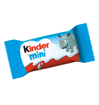 milk chocolate bar kinder schokolade mini motiv nashorn