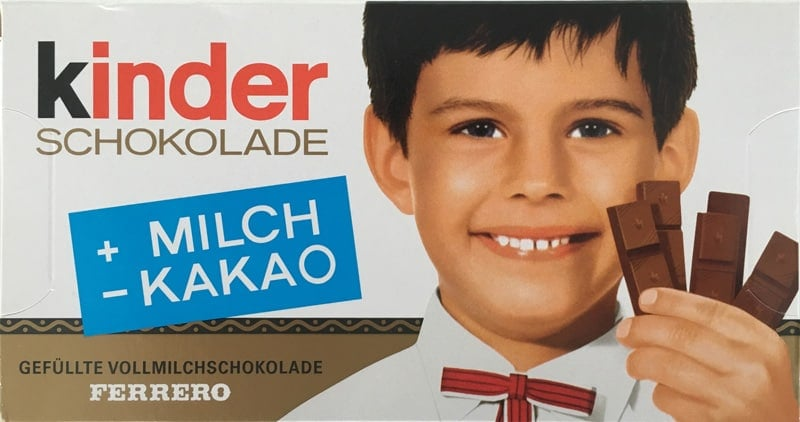 Kinder Chocolate Old Product