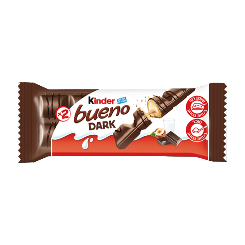 snack chocolate bar kinder bueno dark