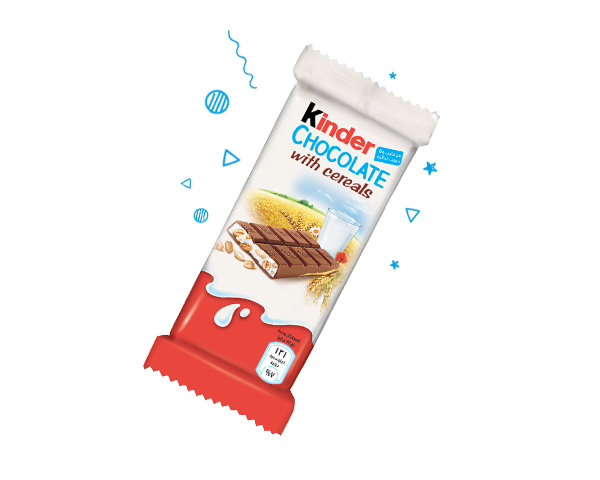 The unique mix of Kinder Chocolate with Cereals