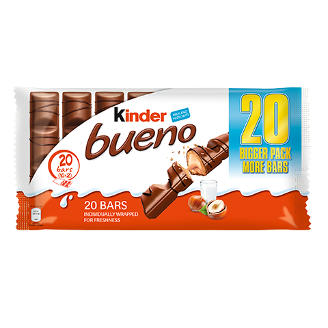 snack chocolate bar kinder bueno 20 bars