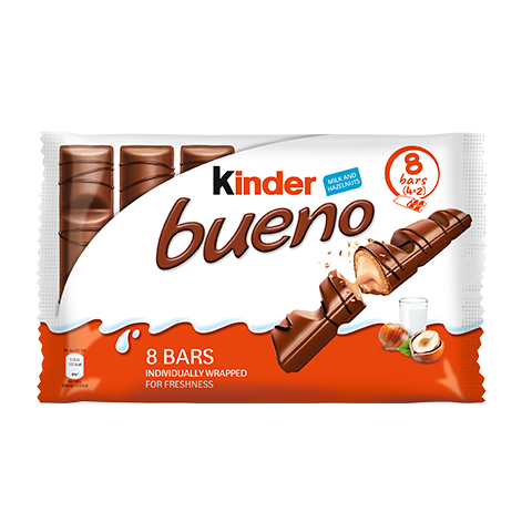 snack chocolate bar kinder bueno 8 bars